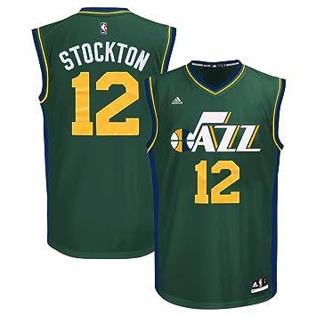 21d447aa9ee ... sale john stockton utah jazz nba adidas mens green replica jersey 5ee89  57446