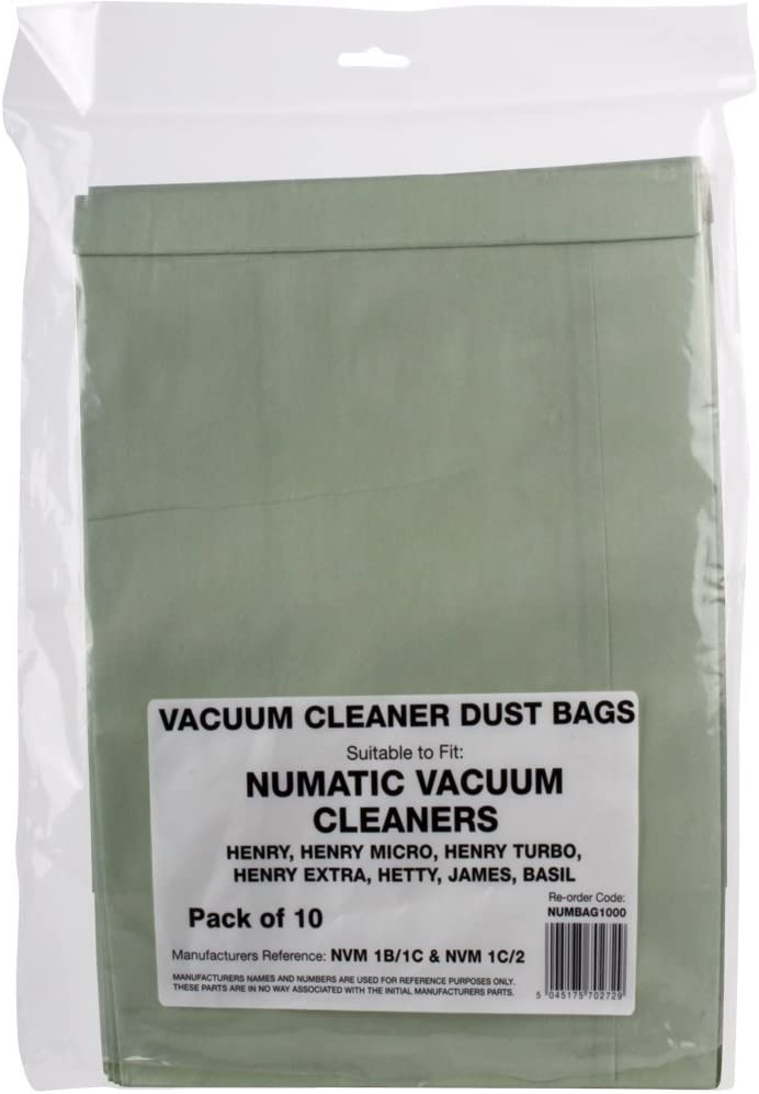 10 Pack Henry Hoover Vacuum Cleaner Double Layer Paper Dust Bags Suitable To Fit Nvm1b /& Nvm1c//2 Type Brand New And High Quality
