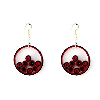bc61307fe Image Unavailable. Image not available for. Color: Paper Quilled Earrings  ...