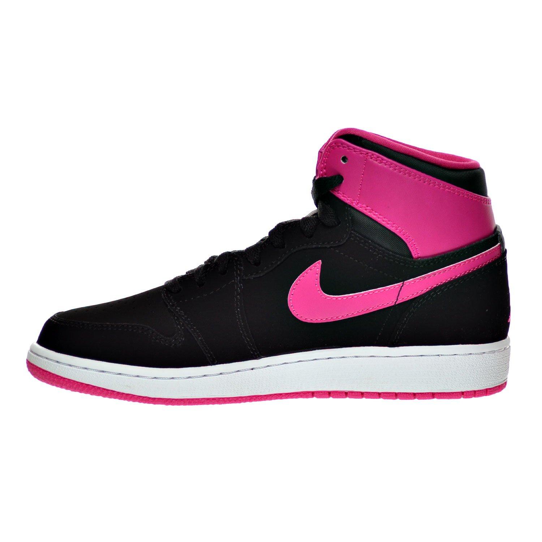 e60530e25179 ... france amazon air jordan 1 retro high gg big kids shoes black vivid  pink white 332148