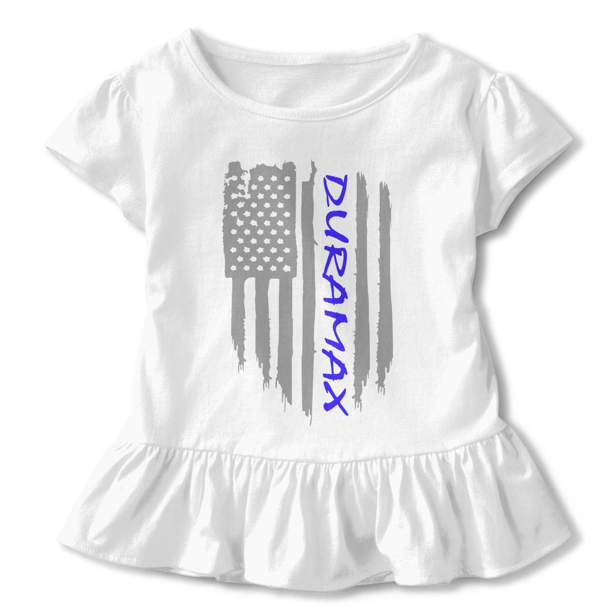 HYBDX9T Toddler Baby Girl American Flag Duramax Funny Short Sleeve Cotton T Shirts Basic Tops Tee Clothes