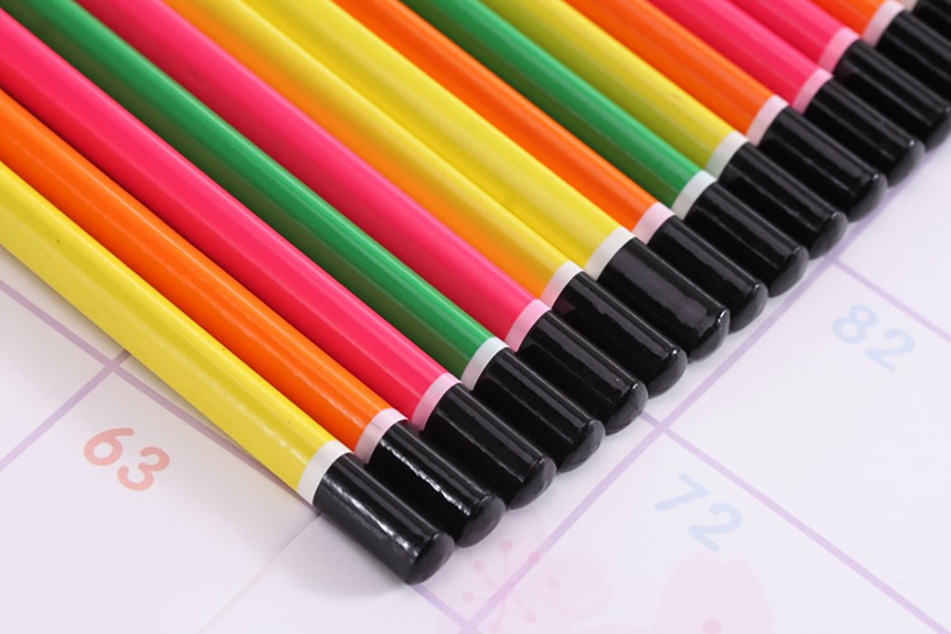 Funpa 50PCS Wood Pencil Colorful Pencil Sketch Pencil Wood Drawing Pencil for Primary Student by Funpa (Image #4)