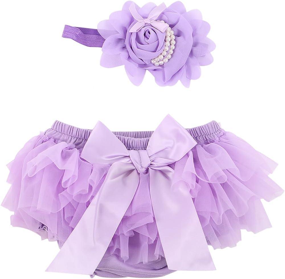 Timall Baby Girls PP Pants Ruffle Skirt Nappy Shorts Culotte /& Flower Headdress