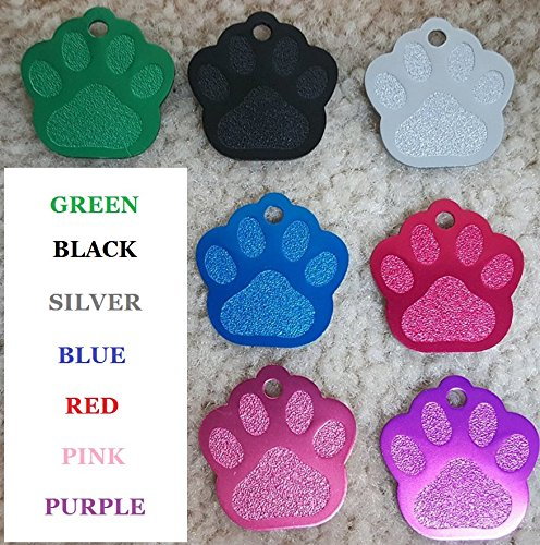 61q7uhXoNFL - Vet Recommended Pet ID Tag Dog and Cat Personalized | Many Shapes and Colors to Choose From! | MADE IN USA, Strong Anodized Aluminum