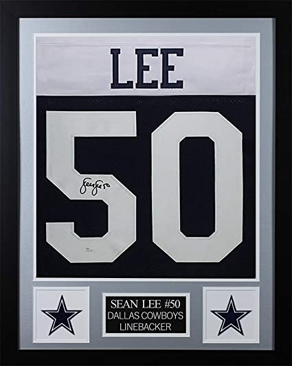quality design 56080 a6133 Sean Lee Autographed Thanksgiving Dallas Cowboys Jersey ...