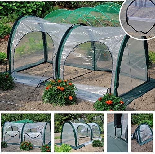 庭の植物のテント、PEの植物のトンネルの防水耐久性のある温室、植物のための2つのジッパードアが付いている屋外の携帯用温室