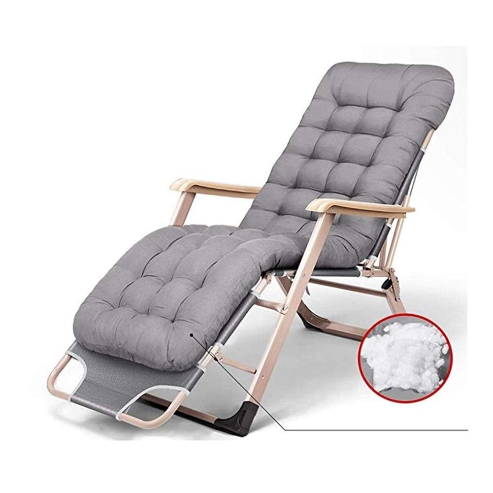 YYTLTY Foldable Lazy Deck Chair,Outdoor Garden Lounge Chair,Portable Beach Chair,Foundation Load Capacity 100kg,Available in Two Colors (Color : Gray) by YYTLTY