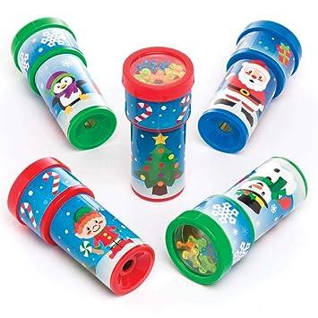 Baker Ross Caleidoscopios navideños (Paquete de 6) Regalos ...