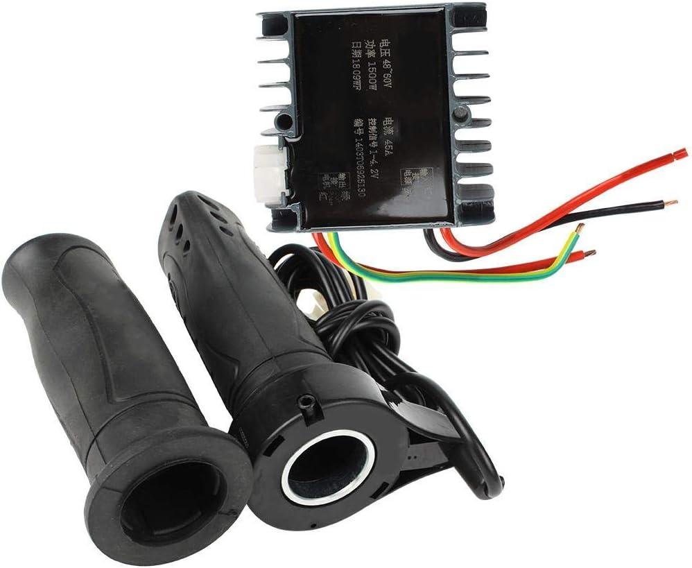 DEWIN Juego de Controlador Cepillado, 48-60V 1500W Motor Kit de Accesorios de Caja de Controlador Cepillado para Triciclo de Scooter eléctrico