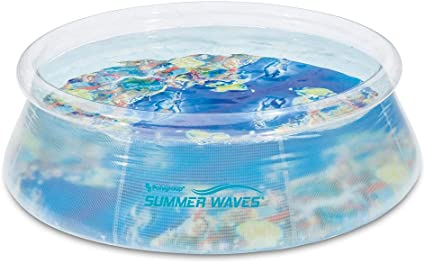 Summer Waves 8/' Ft Quick Set Inflatable Above Ground Pool with Filter Pump