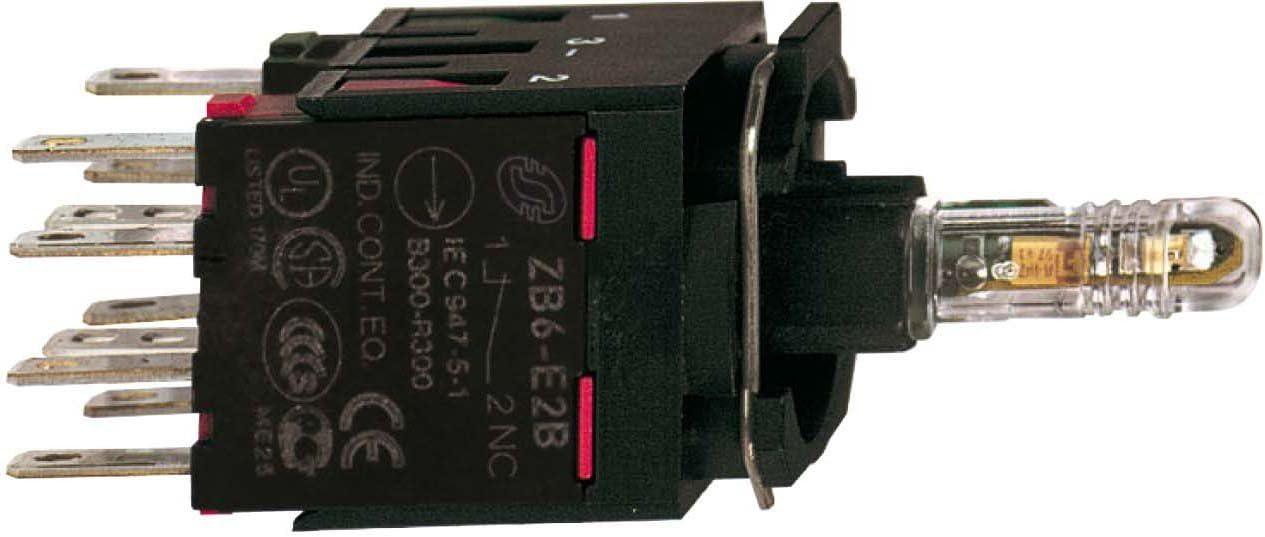 Schneider elec pic - mss 45 15 - Cuerpo pulsador diámetro 16 12-24v 1na/contacto cerrado azul led integral/ado