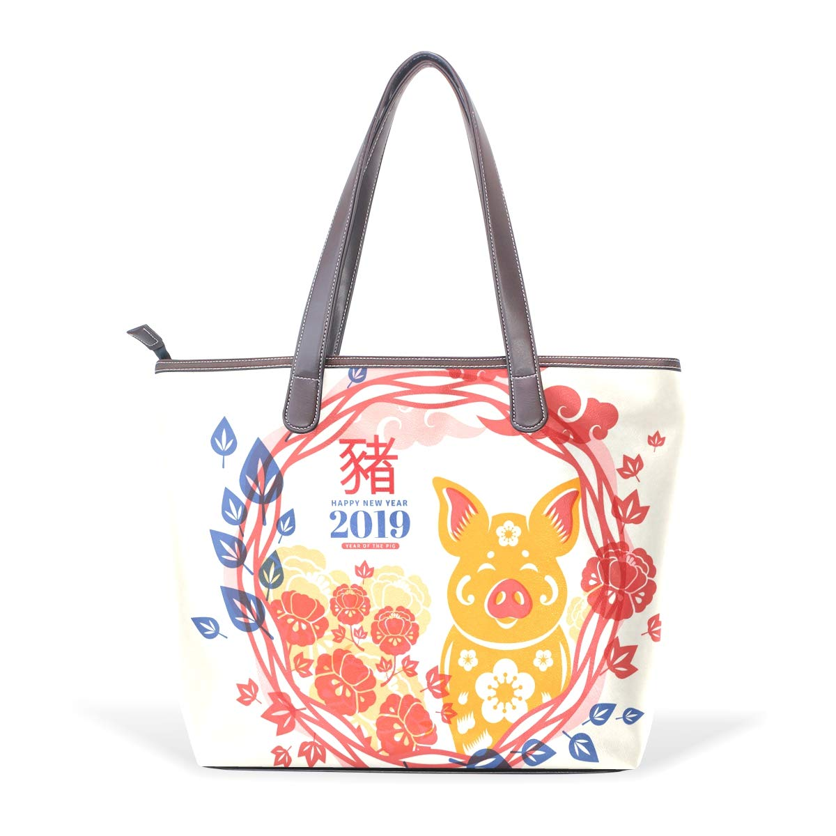 Sports Gym Globalwells Flower Pattern Heavy Duty Travel Luggage Totes Handbag Beach Bag Small Weekend Duffel Bag for Beach