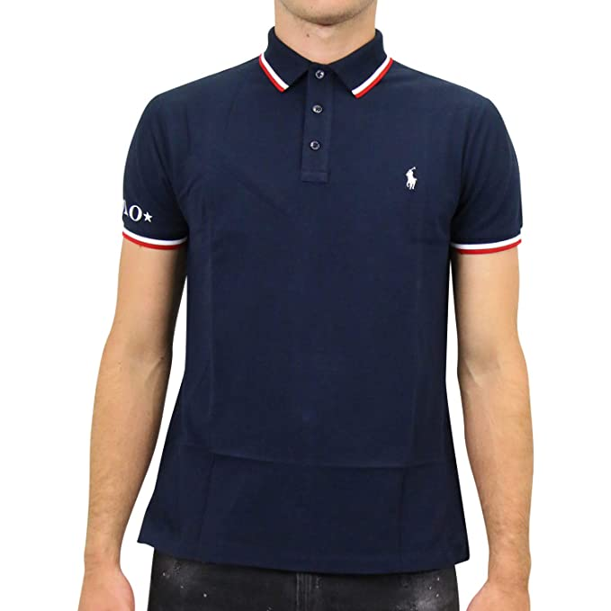 Polo Polo Ralph Lauren Sleeve Knit Azul Marino XXL Marino: Amazon ...
