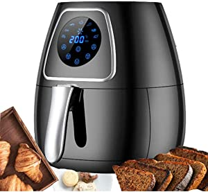 YHLZ Oil-Free Air Fryer Home Air Electric Fryer Fries Machine Fried Vegetarian Meat Snacks 3.2L Smoke-Free Air Fryer 1400W Smart Touch Screen Multi-Function Household