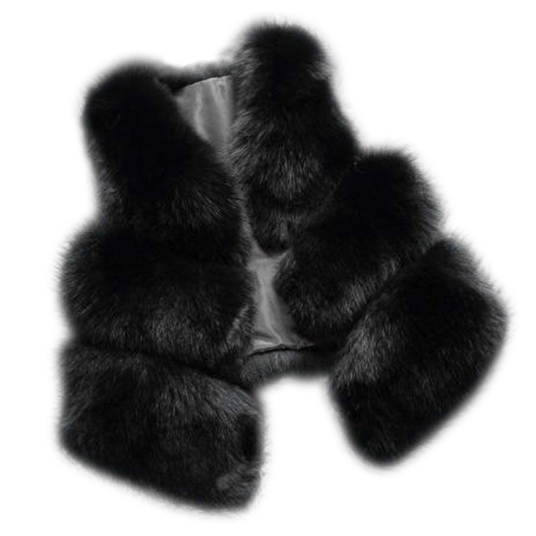 MIOIM Women Winter Sleeveless Vest Faux Fur Coat Gilet Shrug Jacket Outwear 1442321071001