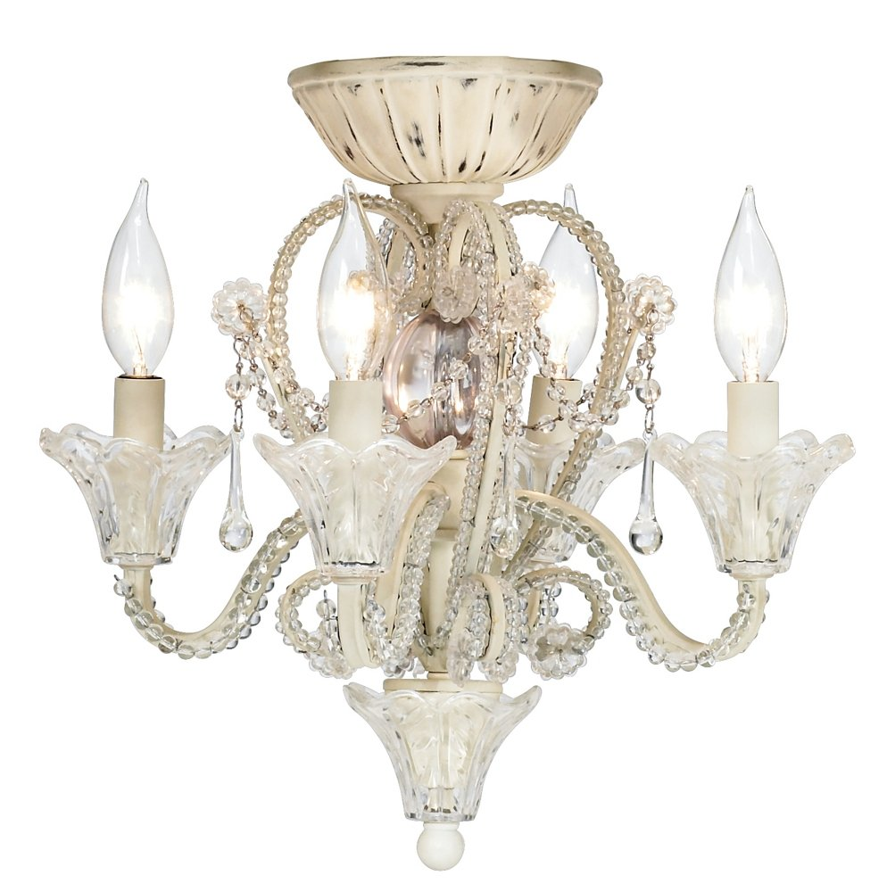 Pull Chain Crystal Bead Candelabra Ceiling Fan Light Kit by Universal Lighting and Decor