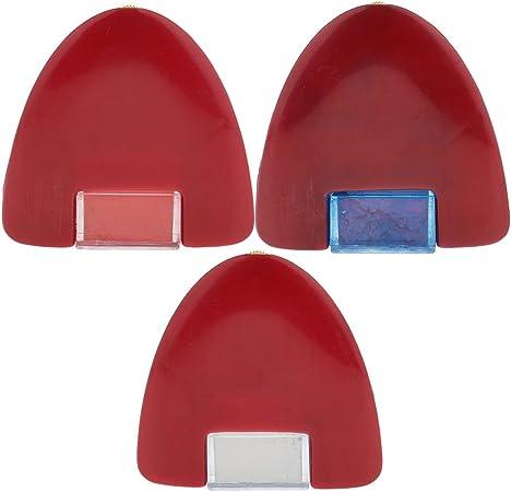 3-tlg Kreidestift Schneiderkreide mit Bürste blau weiß rot Kreide Nähen