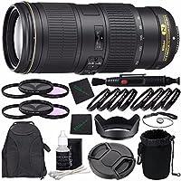 Nikon AF-S NIKKOR 70-200mm f/4G ED VR Lens + 67mm 3 Piece Filter Set (UV, CPL, FL) + 67mm +1 +2 +4 +10 Close-Up Macro Filter Set with Pouch + LENS CAP 67MM + 67mm Lens Hood + Cloth Bundle