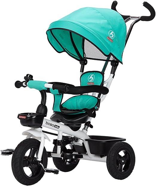 ZXUE Triciclo para Niños Bicicleta 1-3 Años Cochecito para Bebés 2 ...