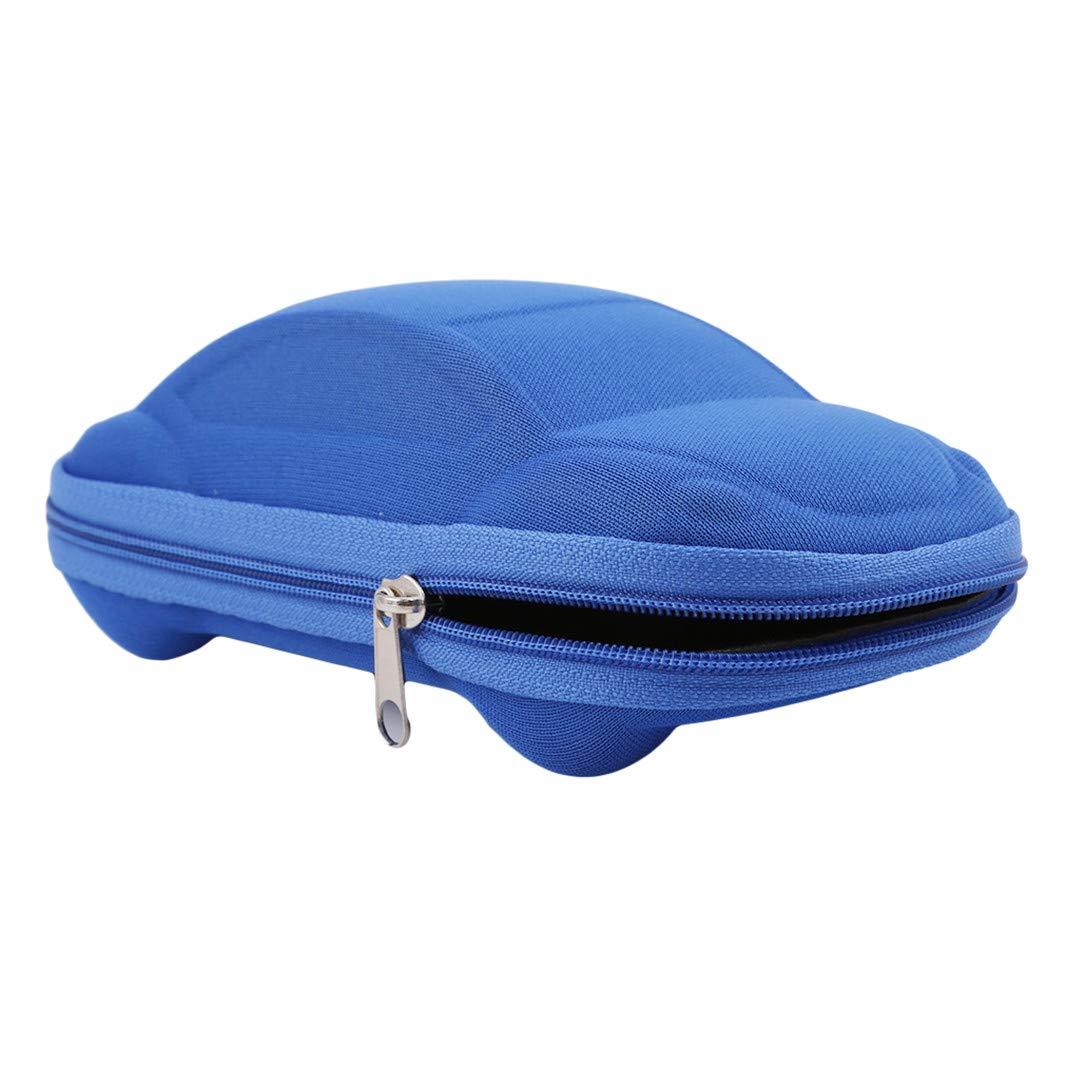 Caja de Gafas para ni/ños As Description Azul Soporte para Gafas SHIJIAN Funda para Gafas de Sol con Forma de Coche Shimian