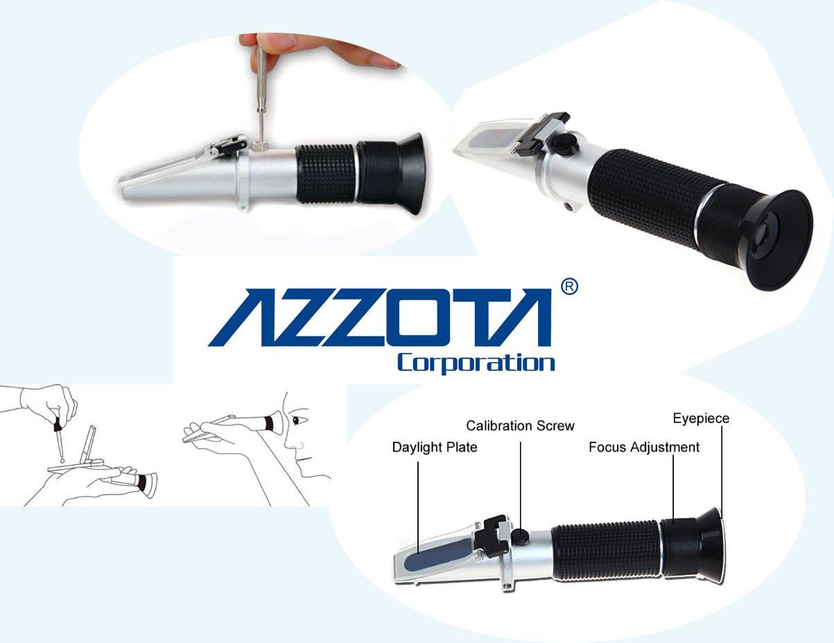 Azzota Honey Tester Refractometer, Honey Moisture Water Range 13-25 Percent, With ATC