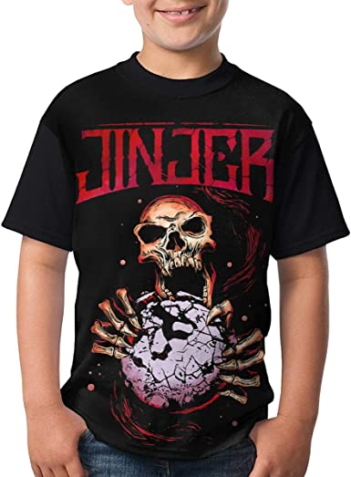 LloydRValdivia Jinjer T Shirts Youth Round Neck Shirt Teenager Boys Personality Tees