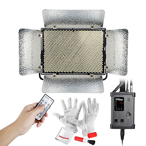 Aputure Light Storm LS 1s 1536 SMD Led CRI95 Daylight Led Light Panel with V-Mount Battery Plate and 2.4G Wireless Remote Controller - Ultra Bright 30300lux@0.5m, Almost Equal to A 1000W Tungsten by Aputure