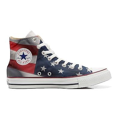 Converse All Et Personnalisé Hi Coutume Imprimés Chaussures Star vgxavwqz