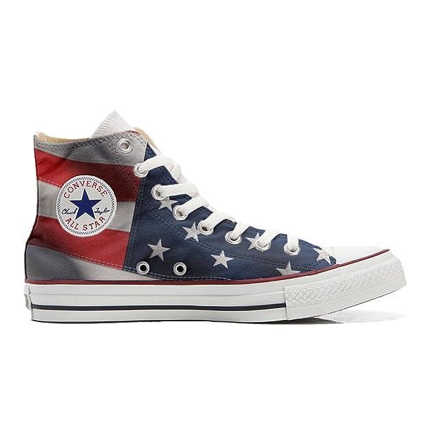 Scarpe Converse All Star personalizzate (scarpe artigianali) con Bandiera  Americana (USA): Amazon.it: Scarpe e borse