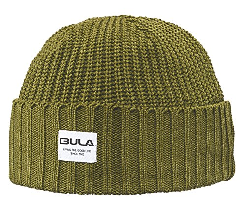 BULA Leo Beanie, Heather Grey, One Size (Acrylic Peak Beanie)