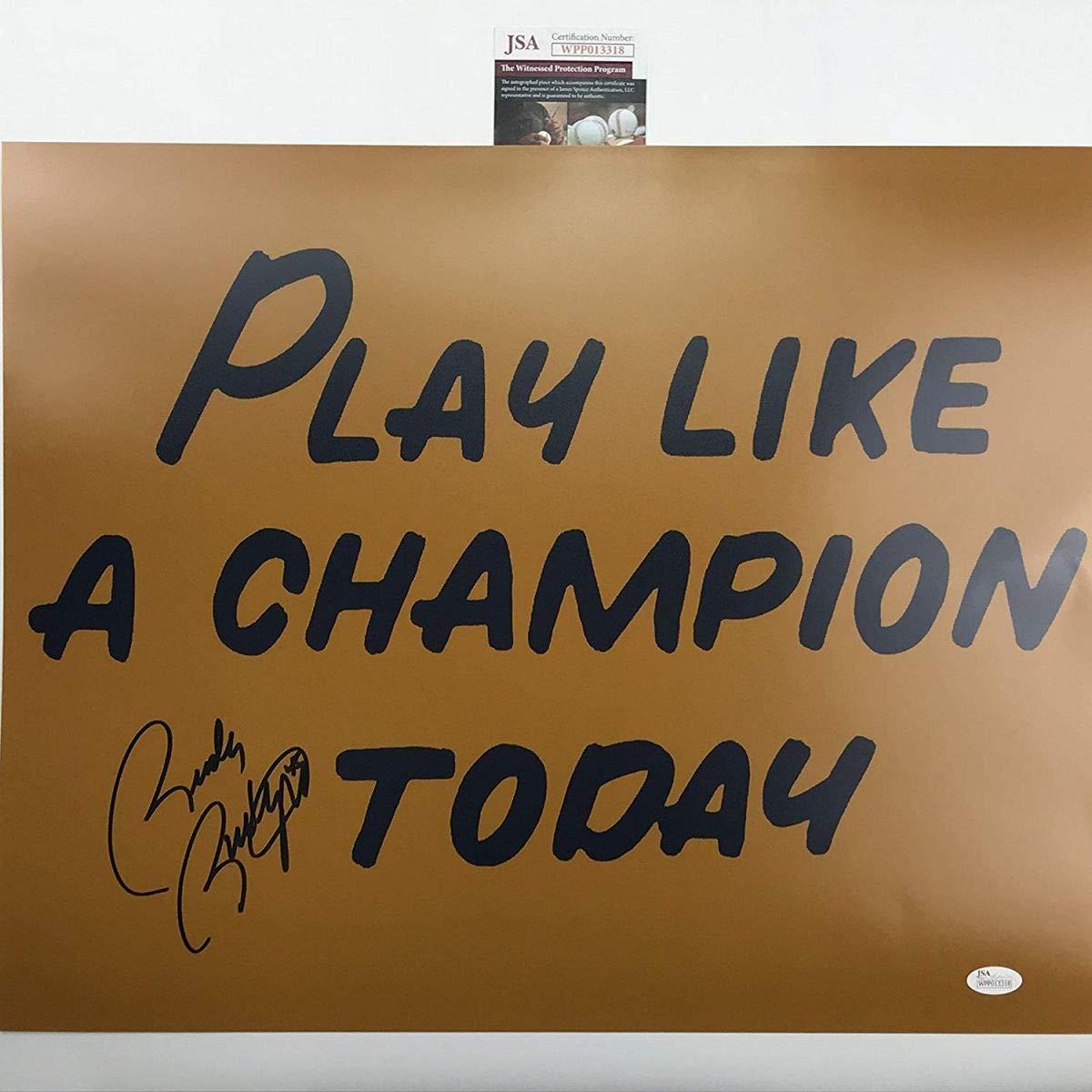 Autographed//Signed Rudy RuettigerPlay Like A Champion Today Notre Dame 16x20 Football Photo JSA COA