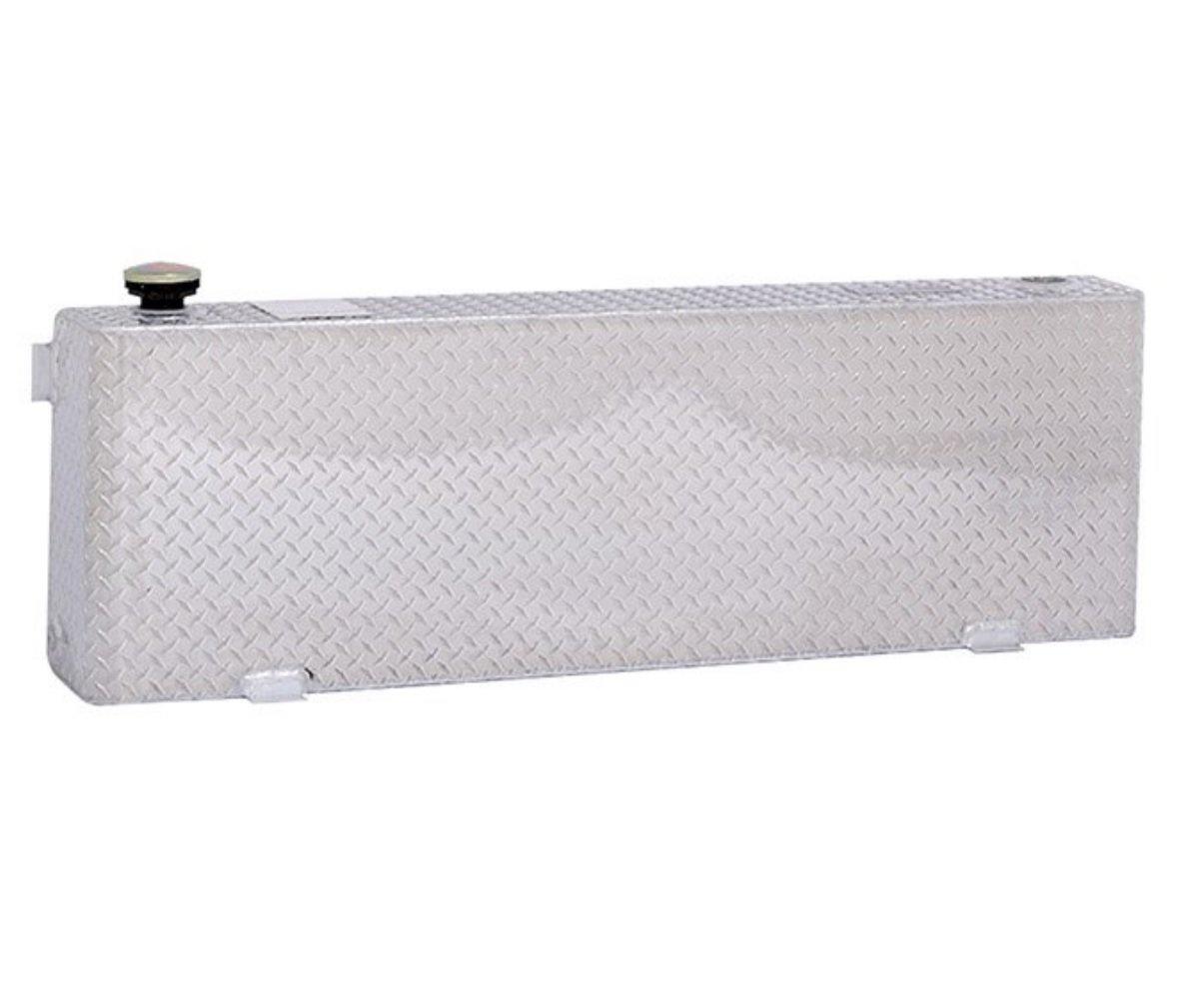 Dee Zee DZ92556N Liquid Transfer Tank Volume 40 Gallons L 56 in. x W 9.625 in. x H 19 in. Narrow Rectangle Shape Brite-Tread Aluminum Liquid Transfer Tank