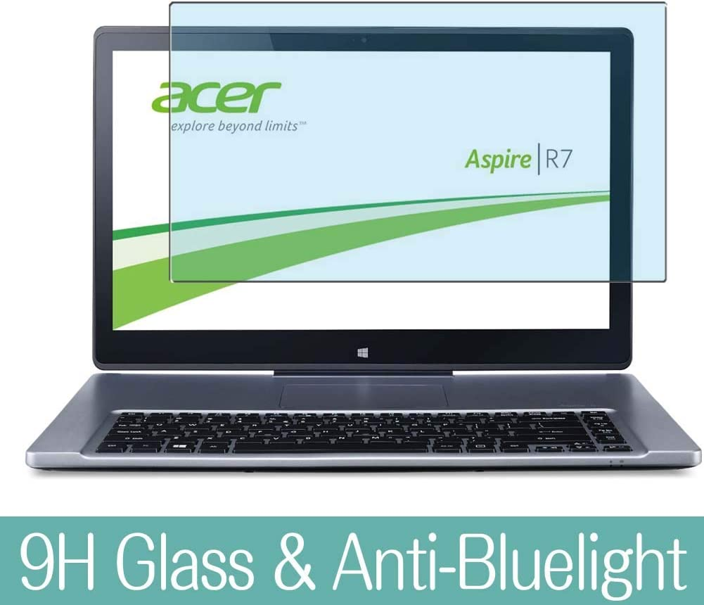 "Synvy Anti Blue Light Tempered Glass Screen Protector for Acer Aspire R7-571 / R7-G571G 15.6"" Visible Area 9H Protective Screen Film Protectors (Not Full Coverage)"
