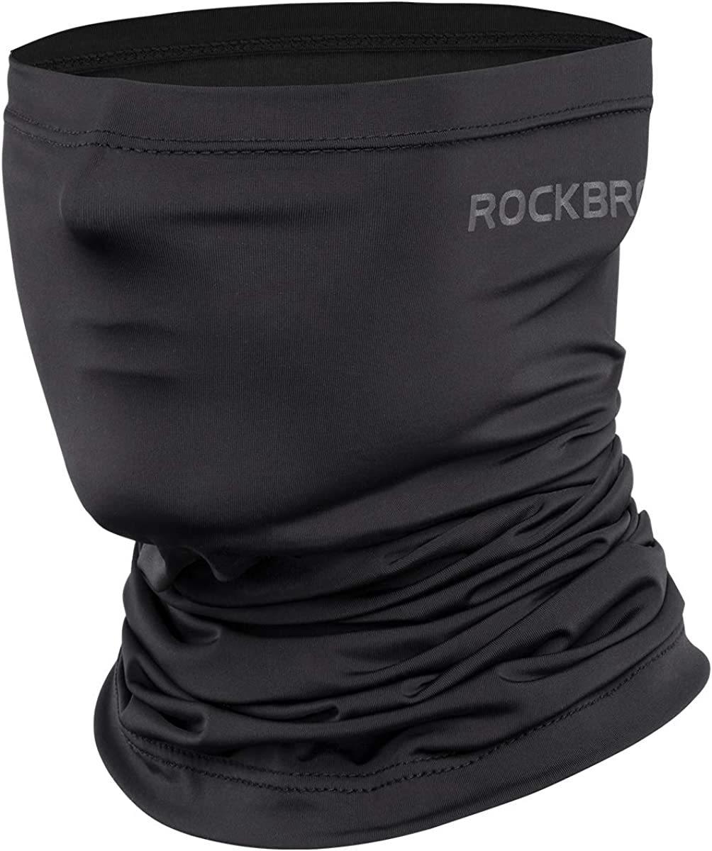 ROCK BROS Cooling Neck Gaiters Bandana Face Mask for Men Half Face Scarf Cover Sun UV Protection for Cycling Fishing