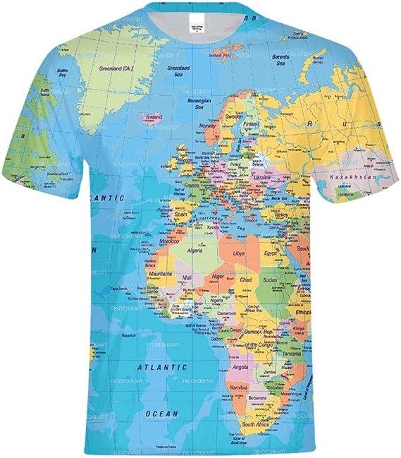 Men/'s Cotton T-Shirt Epcot Center Map