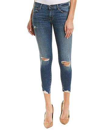 b13fb96fe194 Amazon.com: J Brand Jeans Women's 9326 Low Rise Crop Skinny in Revoke  Destruct: Clothing