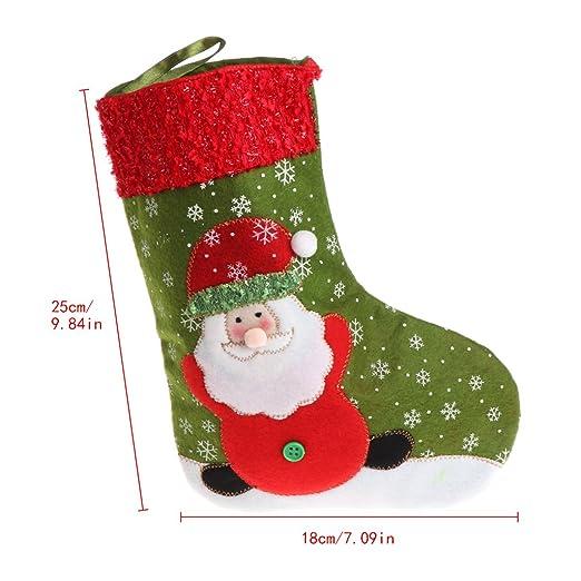 misright small size christmas stockings xmas candy gift bag santa claus snowman socks - Small Christmas Stockings