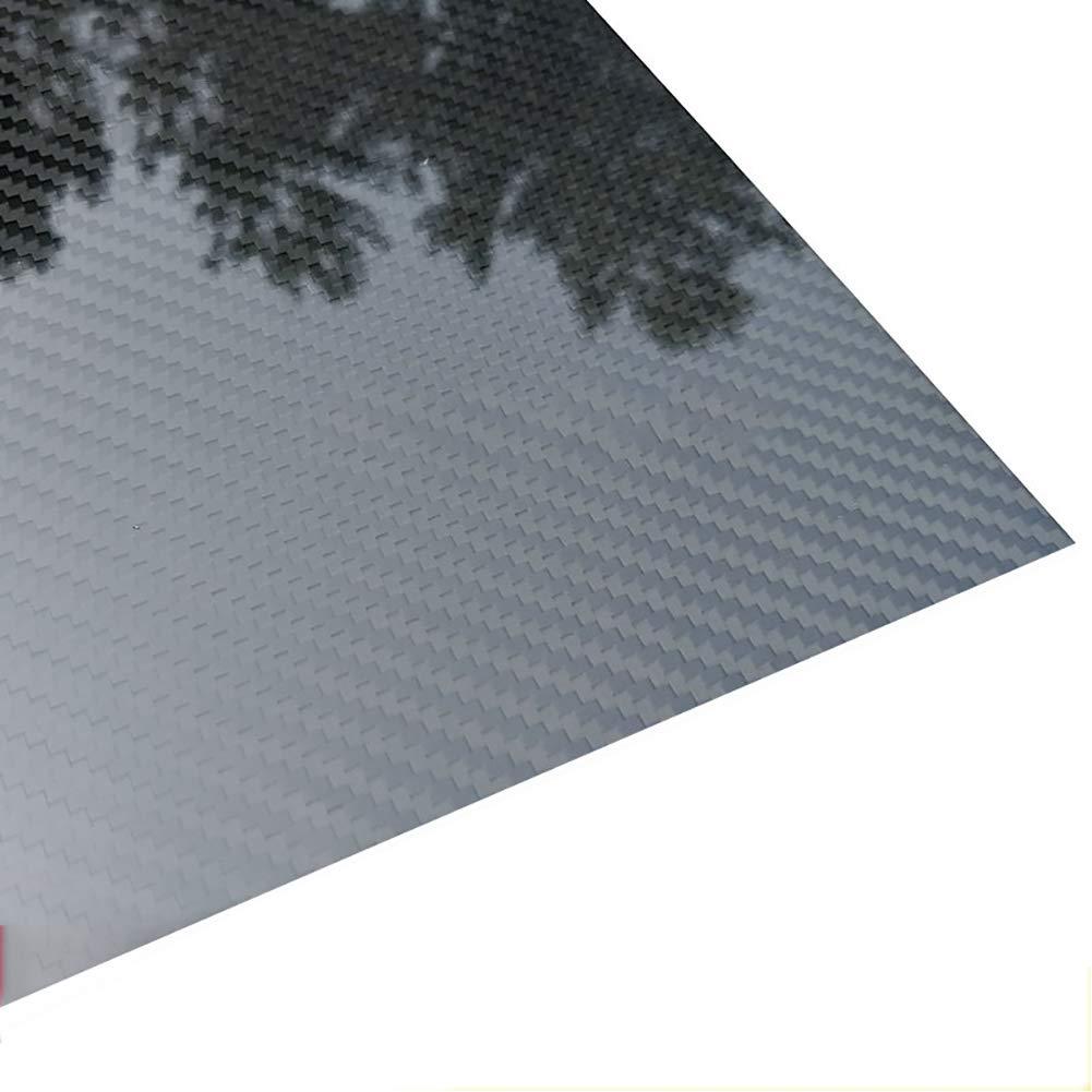 300mmx400mm Piastra Laminata 100/% Fibra di Carbonio per Drone 0,5 mm SOFIALXC Pannello in Fibra di Carbonio 3K Pannello Twill Weave, Superficie Lucida