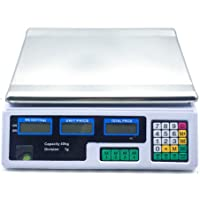 Kitchen Digital Electronic Scale 40KG Commercial Shop Weight Scales Food White