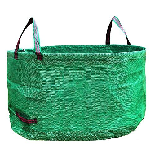 Woven Gardening Bag Reusable Yard Leaf Waste Bag Eco-Friendly Durable Gardening Trash Lawn Leaf Bag Large Capacity and Wide Opening by Prom-near