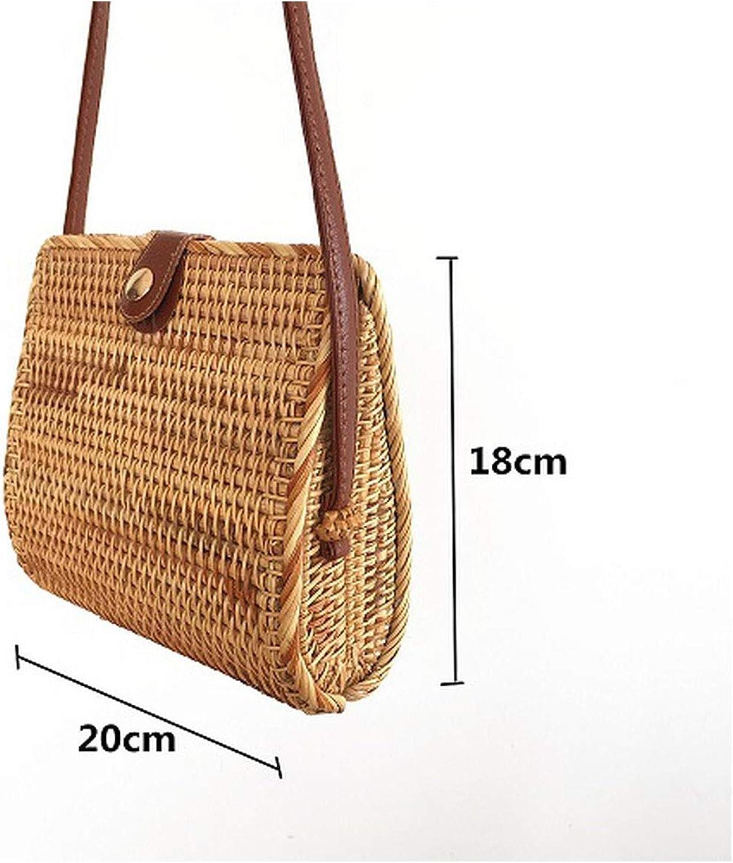 Rattan Bags Handbags Women Bali Bohemian Summer Beach Bag Shoulder Crossbody Round bolsa Straw Bag