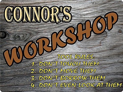 Any and All Graphics Connor Workshop Tool Rules Wood for sale  Delivered anywhere in USA