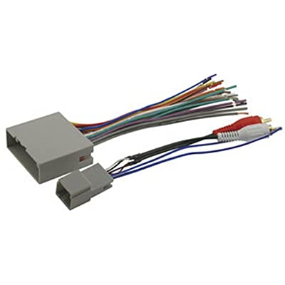 SCOSCHE FDK11B 2003-08 Ford Premium Sound or Audiophile; Power/Speaker and RCA to Sub Amp Input Connectors Wire Harness: Car Electronics