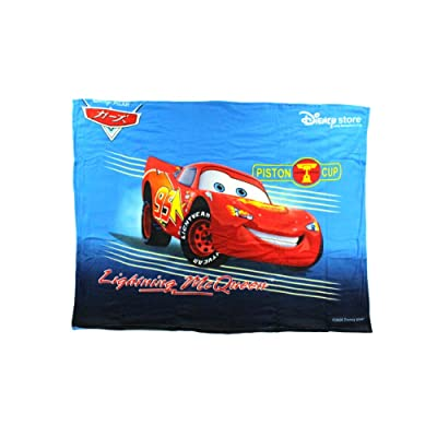 "Disney Cars ""Lightning McQueen"" Fleece Character Blanket 50 x 60-inches: Sports & Outdoors"