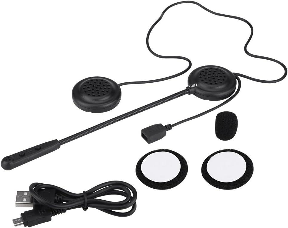 KIMISS Motorradhelm BT Headset Kabelloser Headset-Helm Lautsprecher Freisprecheinrichtung Musikanrufsteuerung Wasserdicht