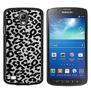 Planetar® ( Patrón Negro Blanco Gris del guepardo del leopardo ) Samsung Galaxy S4 Active i9295 Fundas Cover Cubre Hard Case Cover