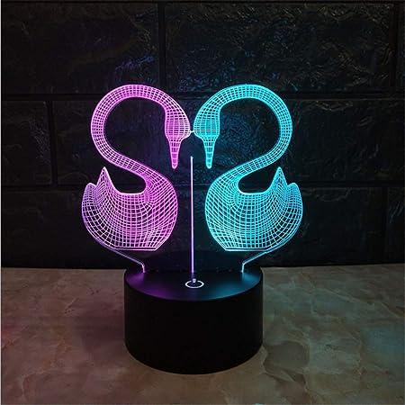 Lámpara de mesa de escritorio de luz nocturna 7 colores que ...