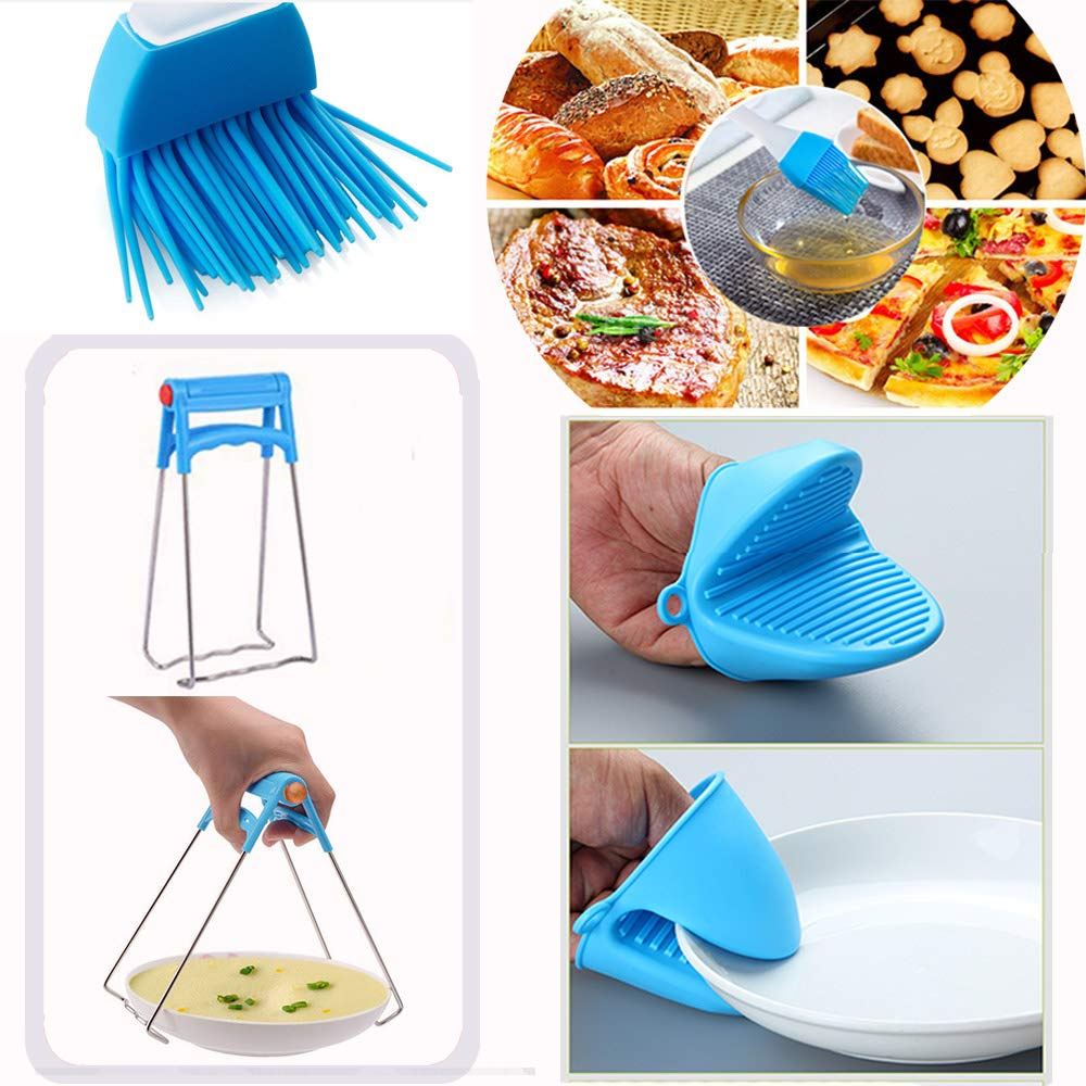 14pcs Accessories for Instant 6 QT&8QT, Steamer Basket, Silicone Bites Mold, Egg Rack,Non-Stick Springform Pan,Food, Pot Tong, Oven Mitts, Oi, 6QT&8QT by Chiyan by Chiyan (Image #4)