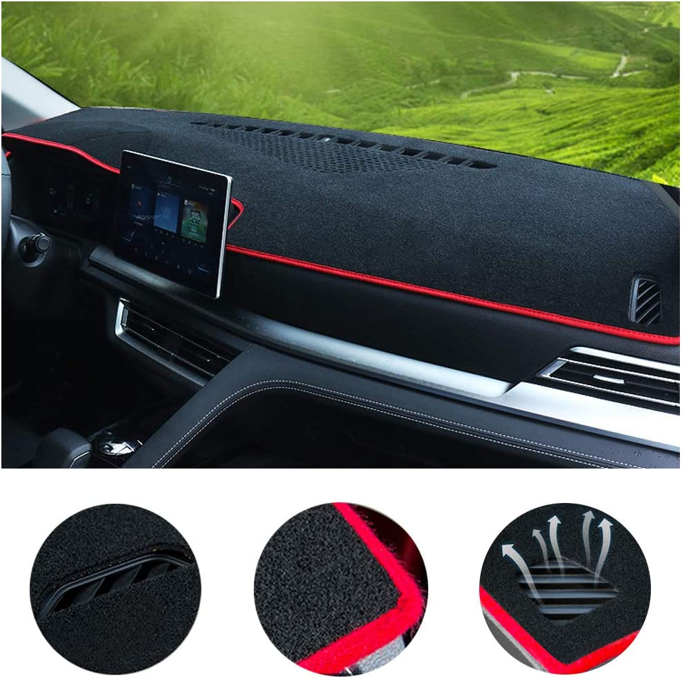 SureKit Car Custom Dash Cover for Hyundai Sonata 2004-2008, 2011-2014, 2015-2017 Auto Dashboard Pad DashMat Dash Board Cover (red line)