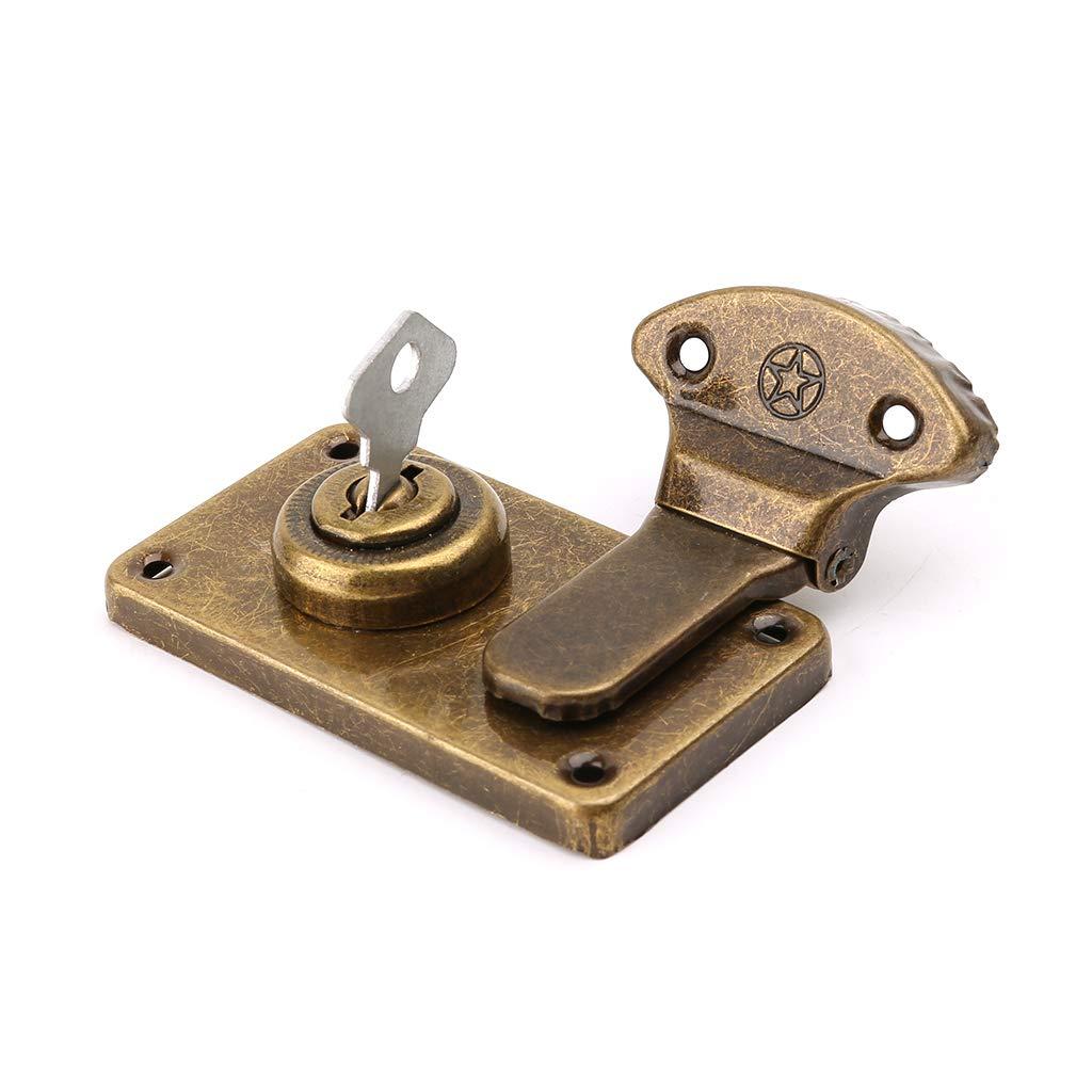BIlinl Bronze Ton Cuir Valise Boucle Bo/îte Serrure en M/étal Vintage Antique Toggle Hasp Loquet